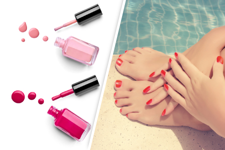Pose de vernis semi-permanent French mains et pieds